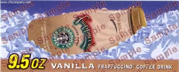 Starbucks Frappuccino Vanilla 9.5oz Glass